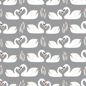 Swan Story // by petite_circus // cream blush pink gray white // wedding // cute kids baby nursery //