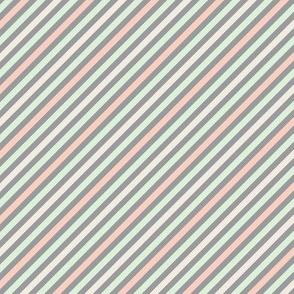 Peach & Cucumber Stripes