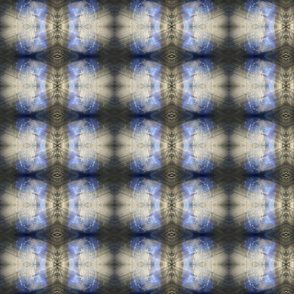 Shibori Diamonds - Blue and Grey