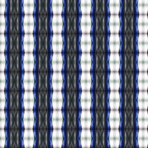 Blue and Grey Shibori Stripes