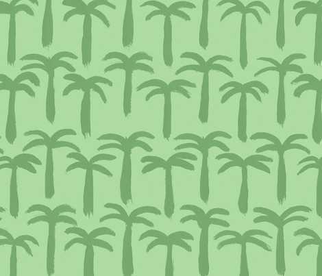 Tiny Palms by The Prime Floridian fabric by theprimefloridian on Spoonflower - custom fabric