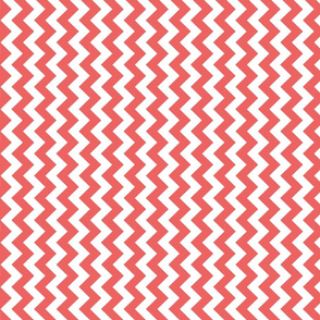 coral red chevron