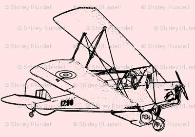 Vintage Plane-pink - smallest