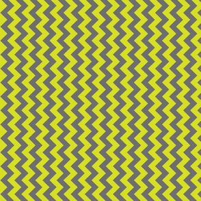 gray and yellow chevron