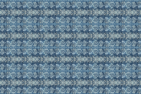 handpainted_vintage_indigo_ fabric by jennifer_rizzo on Spoonflower - custom fabric