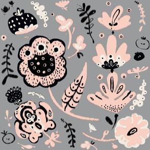 floral ikat