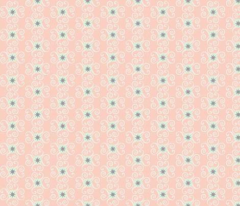 Spring Flower Burst Peach fabric by tangledvinestudio on Spoonflower - custom fabric