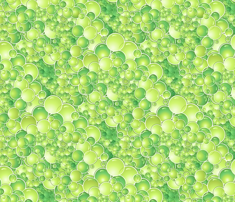 bubbles in chartreuse  fabric by hannafate on Spoonflower - custom fabric