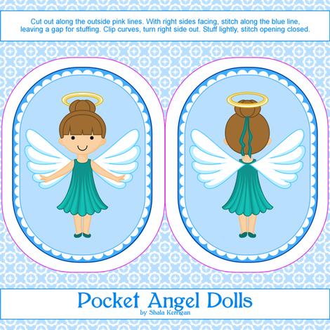 Pocket Angel 18 fabric by shala on Spoonflower - custom fabric