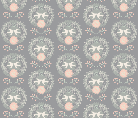 love_birds_2 fabric by cathy_ann on Spoonflower - custom fabric