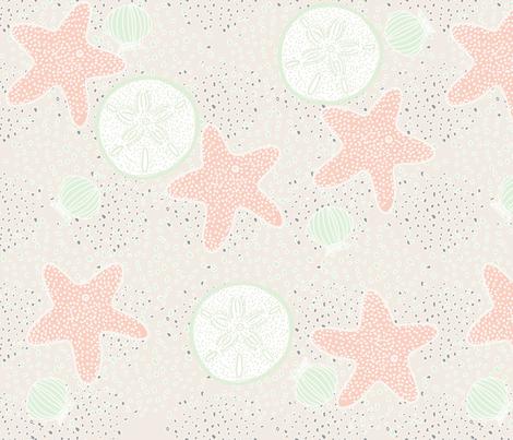 Beach Wedding limited palette fabric by amyjeanne_wpg on Spoonflower - custom fabric