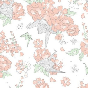 Origami Style - Floral White