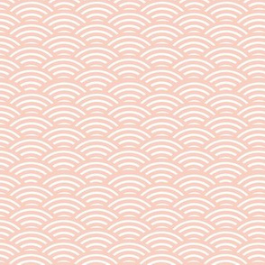 Origami Style - Peach Waves