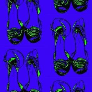Rosette blue shoes