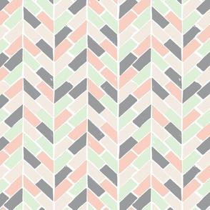 Pastel & Gray Herringbone