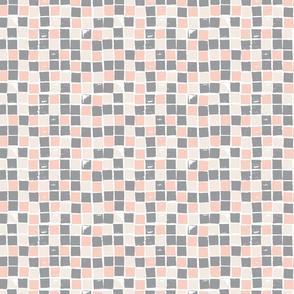 Peach & Gray Squares