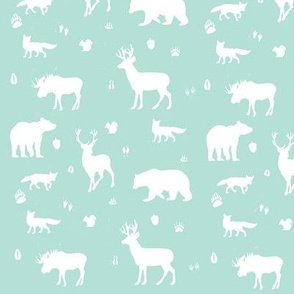 woodland animals // mint