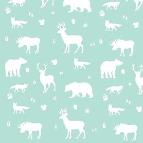 woodland animals // mint