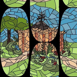 Stained Glass Garden- Smaller Version