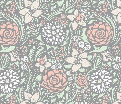 wedding_floral fabric by jordan_walsh on Spoonflower - custom fabric