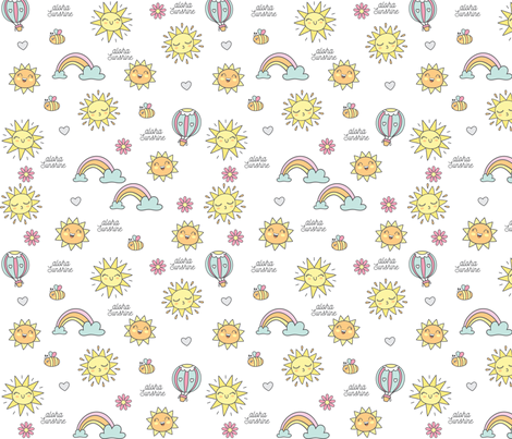 Aloha Sunshine fabric by jennteixeira on Spoonflower - custom fabric