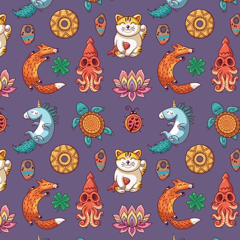 good luck fabric by penguinhouse on Spoonflower - custom fabric
