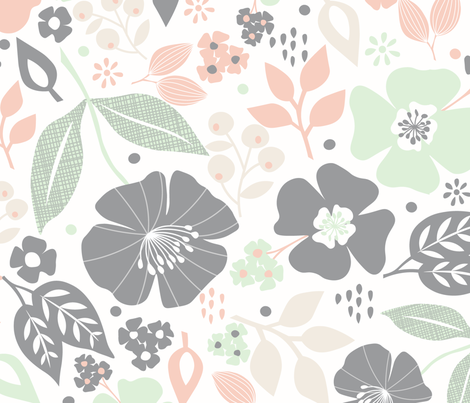 Wildflowers fabric by cottonflowerstudio on Spoonflower - custom fabric