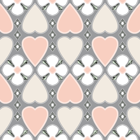 Three Nice Things - The Wedding Edition in grey silk fabric by inscribed_here on Spoonflower - custom fabric