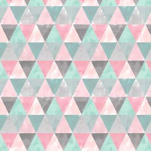 Pale grungy geometric