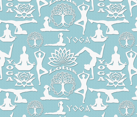 PAPER CUT YOGA fabric by bluevelvet on Spoonflower - custom fabric
