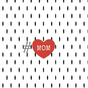 Mink Snow  FQ -MOM Red Heart Hashtag gray