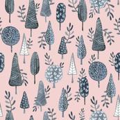 Winter Trees Pink