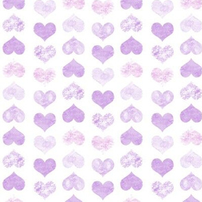 Watercolor Hearts, Violet