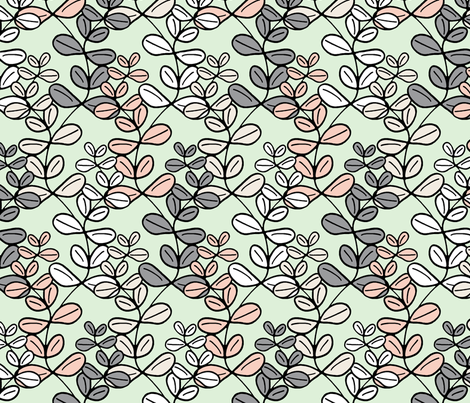 Growing Lucky - The Wedding Edition in cucumber fabric by inscribed_here on Spoonflower - custom fabric