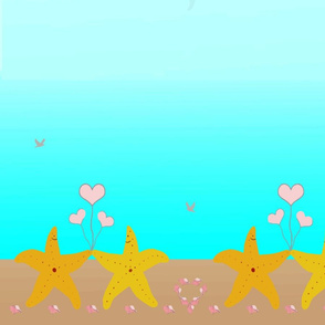 Summer Love Border Print Starfish