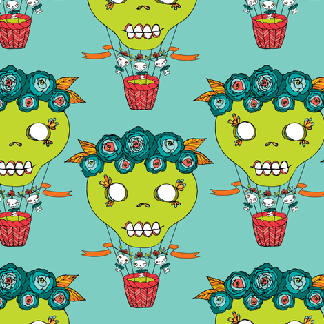 skelly hot air balloon fabric by skellychic on Spoonflower - custom fabric