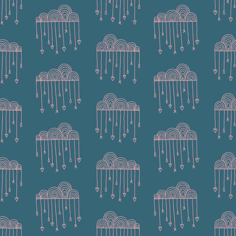 Let Your Love Rain Down on Me fabric by seesawboomerang on Spoonflower - custom fabric