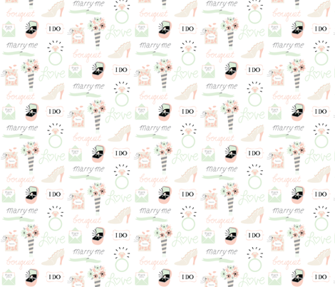 marry me! fabric by pinkowlet on Spoonflower - custom fabric