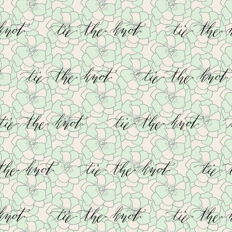 Tie The Knot Calligraphy Miss Chiff Designs Fabric