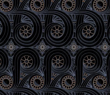 Wacker Tower Volutes 1b fabric by muhlenkott on Spoonflower - custom fabric