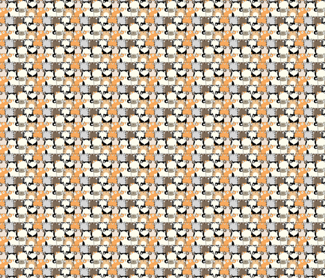 Staring Cats fabric by emseeitch on Spoonflower - custom fabric