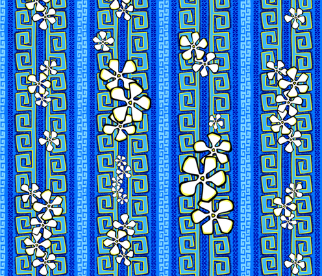 Blue Kauai fabric by madtropic on Spoonflower - custom fabric