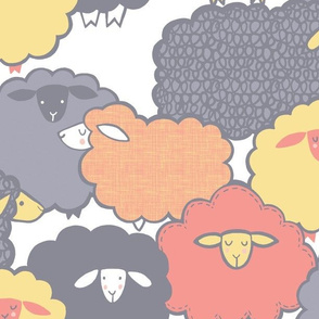 Sheep Society (Yellow/Coral)