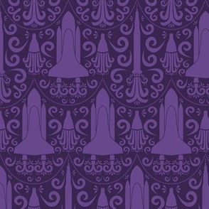 Rocket Science Damask (Purple)