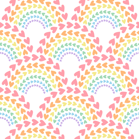 Rainbow Love fabric by robyriker on Spoonflower - custom fabric