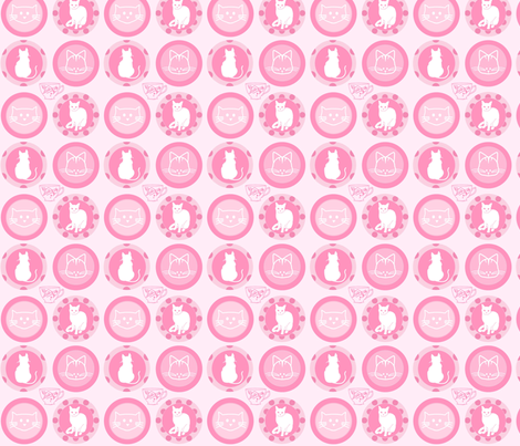 Umbridge - Pink fabric by moonstoneelm on Spoonflower - custom fabric