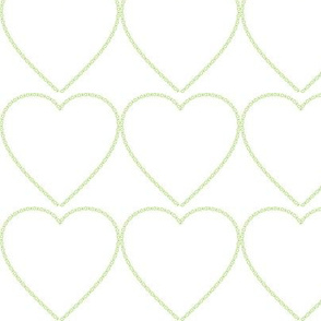 XOX Heart Frame Green