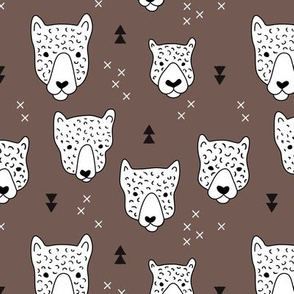Geometric safari leopard cute woodland animals forest fall