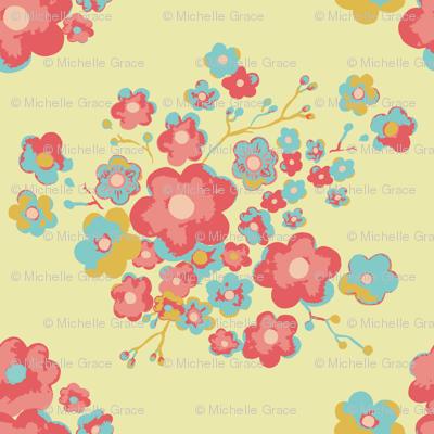 Painterly Floral, lemon