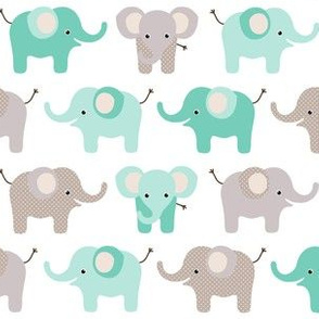 Happy elephants